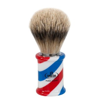 "OMEGA 6735 ""BARBER POLE"" Pennello da barba  in tasso Super"