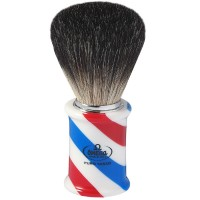 "OMEGA 6736 ""BARBER POLE"" Black Badger Shaving Brush"